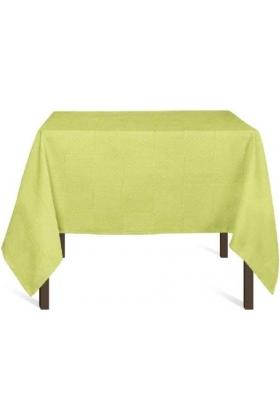 PURE - Nappe damier 160x160 + 6 serviettes